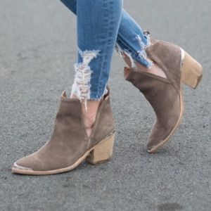 *EUC* Jeffrey Campbell Cromwell Bootie Taupe Suede